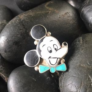 Vintage sterling Zuni Mickey Mouse Ring
